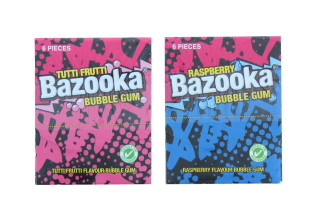 BAZOOKA BUBBLEGUM 6PK ASSORTED