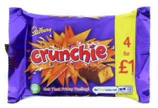 CADBURY CRUNCHIE 4PK(4X26.1G)£1