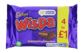 CADBURY WISPA 4PK (4X25.5G) £1