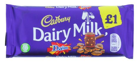 CADBURY D.MILK 120G DAIM £1