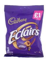 CADBURY 130G CHOC ECLAIRS £1