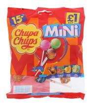 CHUPA CHUPS MINI LOLLY 15PK £1