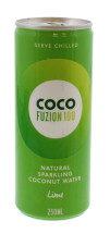 COCO FUZION 250ML LIME C.WATER