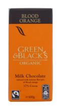 GREEN&BLACKS 100G MLK CHOC ORNG