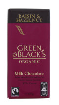 GREEN&BLACKS 100G RAISIN&NUT