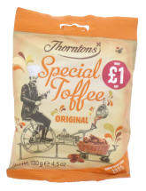 THORNTONS 130G TOFFEE PMP £1