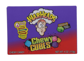 WARHEADS CHEWY CUBE 113G LAB