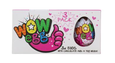 WOW EGG 3X15G CHOC EGG PINK