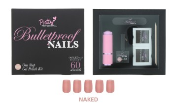 PRETTY PROF N/POLISH NAKED 5PC