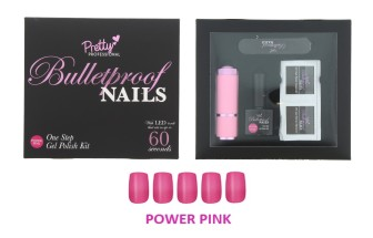 PRETTY PROF N/POLISH POWER PINK 5PC