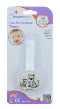 DREAMBABY PACIFIER HOLDER TIGER