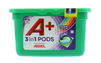 ARIEL 3IN1 PODS 12'S COLOUR&STYLE LAB