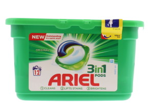 ARIEL 3IN1 PODS 12'S REGULAR (LAB)