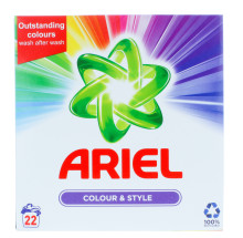 ARIEL 1.43KG POWDER COLOUR 22 WASH