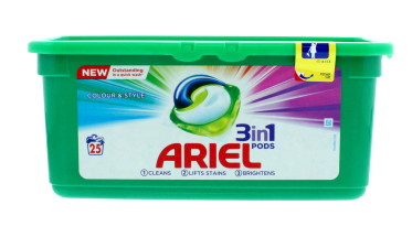 ARIEL 3IN1 PODS 25'S COLOUR & STYLE