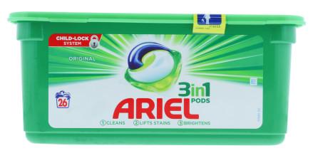 ARIEL 3IN1 PODS REGULAR 26'S