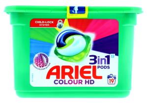 ARIEL 3IN1 PODS COLOUR 19'S