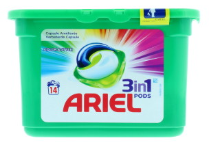 ARIEL 3IN1 PODS COLOUR & STYLE 14'S
