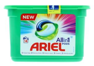 ARIEL 3 IN 1 PODS COLOUR 14'S