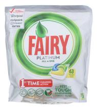 FAIRY PLATINUM D/WASH TAB LEM 63'S