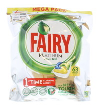 FAIRY PLATINUM D/WASH TAB LEM 63'S