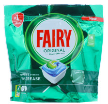 FAIRY ORIGINAL D/WASHER TAB 16'S