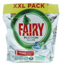 FAIRY PLATINUM D/WASH TAB ORIG 70S