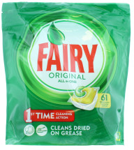 FAIRY ORIGINAL D/WASHER TABS LEMON 61'S