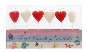 PRICE'S BIRTHDAY LOVE HEART CANDLES