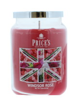 PRICE'S CANDLE LARGE WINDSOR ROSE