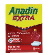 ANADIN EXTRA TABLETS 545MG 8'S