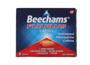 BEECHAMS FLU PLUS CAPS 8'S