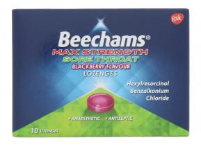 BEECHAMS THROAT LOZENGE B/BERRY 10