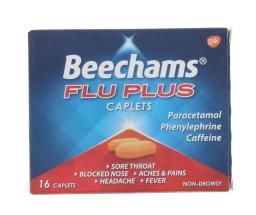 BEECHAMS FLU PLUS CAPS 16'S