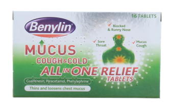 BENYLIN MUCUS COUGH & COLD TABS 16'S