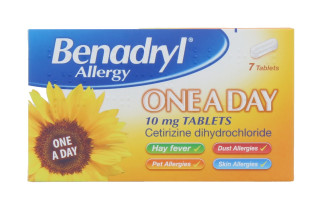 BENADRYL 10MG ALLERGY TABLETS 7S
