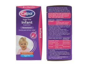 CALPOL 100ML INFANT SUSP SUG FREE
