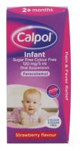 CALPOL 100M INFANT SUSP CF STRAWB