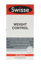 SWISSE WEIGHT CONTROL 180 CAPS