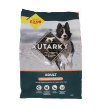 AUTARKY 1KG DOG FOOD SALM £2.99