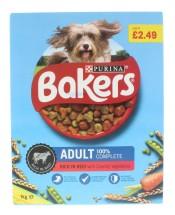 BAKERS 1KG ADULT DOG BEEF £2.49