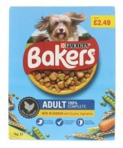 BAKERS 1KG ADULT DOG CHCK £2.49