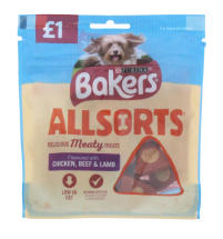 BAKERS ALLSORTS 98G MEAT PMP £1