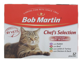 BOB MARTIN 12X85G POUCH MEAT