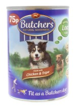 BUTCHERS 400G CAN CHICKEN 75P