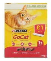 GO-CAT 340G COMP ADULT CHICKEN&LIVER £1