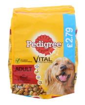 PEDIGREE 1KG DRY DOG BEEF £2.79