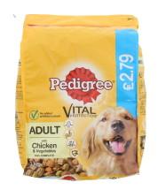 PEDIGREE 1KG DRY DOG CHIC £2.79