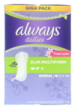 ALWAYS MULTI P/LINERS 100S NORMAL