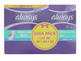 ALWAYS PANTY LINERS 82'S NORMAL FRESH